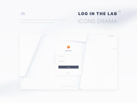Login animation clean design white ui 3d interface motion