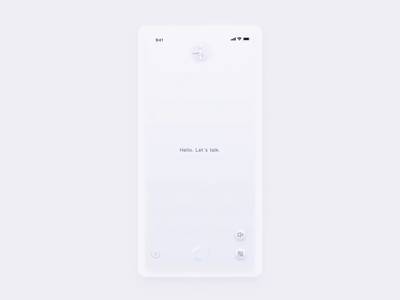 Voice Interaction For HR-X hr-x ai wave sound voice white design animate interface app motion