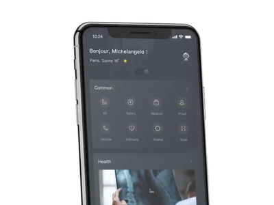 HR-X 2018 hr-x clean ui interaction white design vector 3d interface app motion