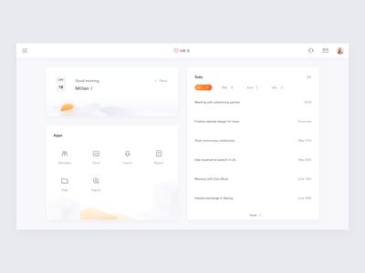 Responsive Dashboard hr-x design white interaction ui app interface motion
