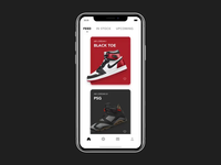 SNKRS nike sneakers interaction ui interface app motion