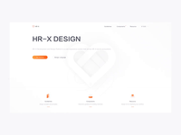 Landing Page hr-x white interaction 3d motion interface