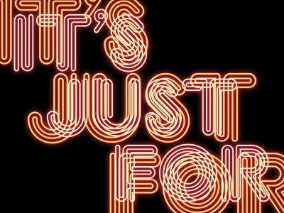 It's Just For... Students eat food font brand typography type neon