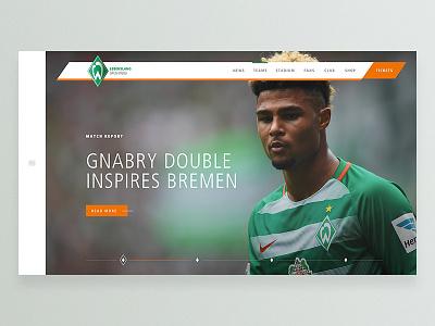 SV Werder Bremen Concept redesign bundesliga football bremen werder concept prototype principle website webpage webdesign web