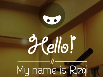 Home rizqi.co web portfolio css html responsive debut