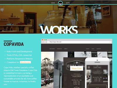 Portfolio page rizqi.co web portfolio css html responsive