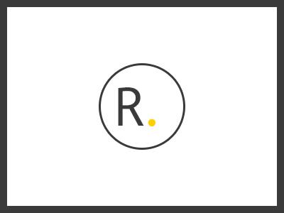 R monotype typography logo