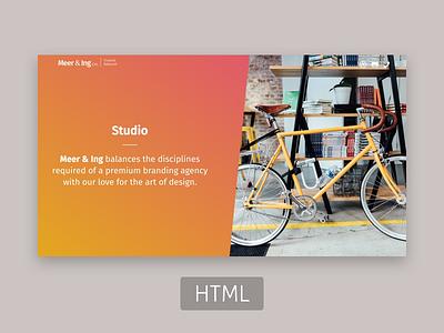 Meering - Company Profile Template portfolio css freebie html company profile gradient