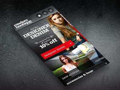 Random Boutique seo web design ux ui design concept mobile desktop responsive