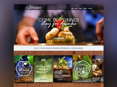 The Commodore web website design web design ui ux responsive call to action cta user interface clean