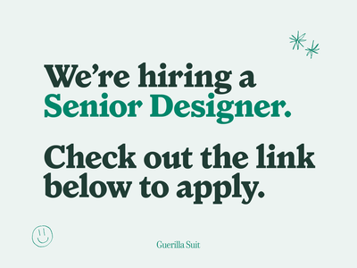 Hiring! texas austin senior designer hiring