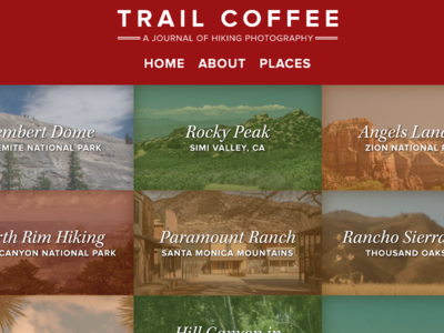Trail Coffee Homepage Concept outdoors homepage website hiking