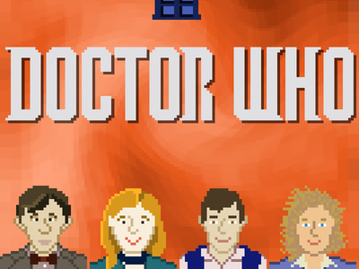 Doctor Who (11th Doctor) matt smith 11thdoctor science fiction pixels bbc pixel characters pixel art doctor who