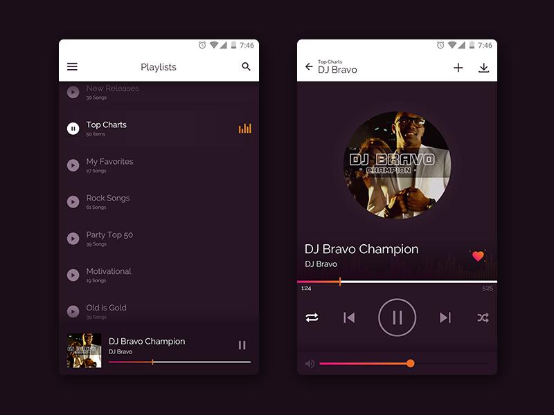Music Player App by Himanshu Jani   Dribbble   Dribbble