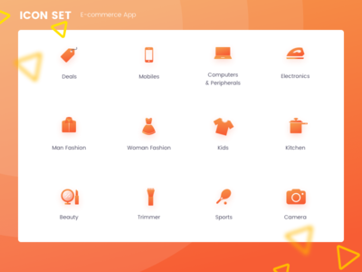 Icons Set for an E-commerce app