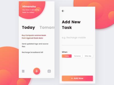 To Do App Concept (Minimal) calendar todo add task task list daily task todo list minimal simple ios to do app