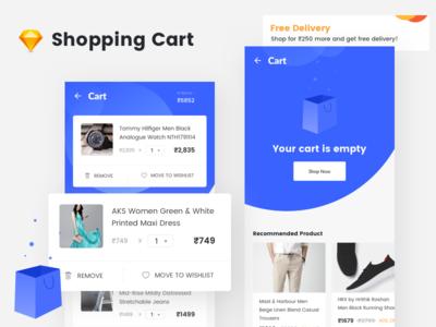 Shopping Cart ux ui app design checkout orders empty cart shopping cart app ios