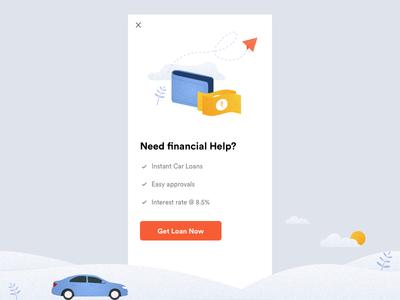 Get Loan - Popup Design