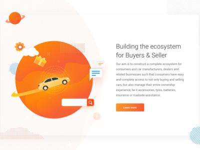 Vision web cars ecosystem mission vision illustration concept