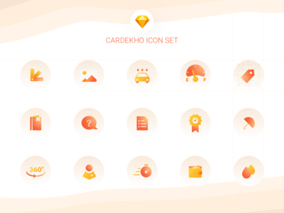 Cardekho - Icon Set concept icons pack icons design app icon offers car icon depth grain automobile icons