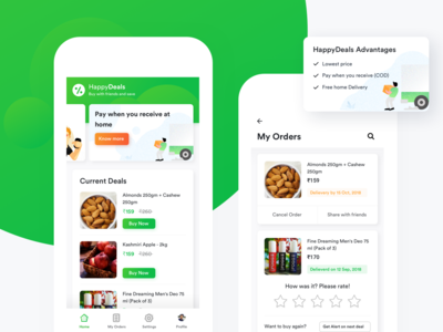 Deals App visual ui  ux ui product orders landing coupon offers shopping deals app
