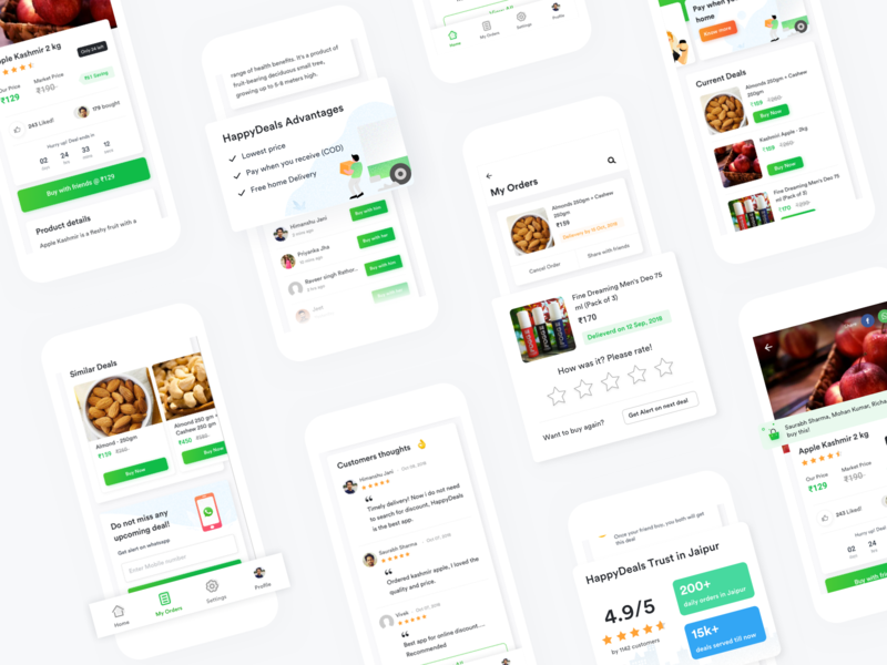 Online Deals App Design inspirations clean app design 2019 best app design visual design ui designer mumbai ux ui android delivery shopping offers coupon online deals ios app
