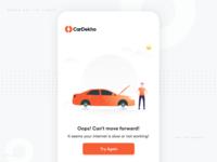 No Internet design app ios app design warning cardekho illustration car error screen 404 internet error no internet app design app
