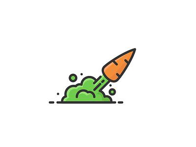 Carrocket  illustration logo icon rocket carrot