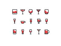 Wineglass icons