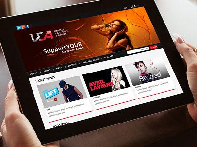 UCA - Branding | Website logo web design website music uca canada ui ux