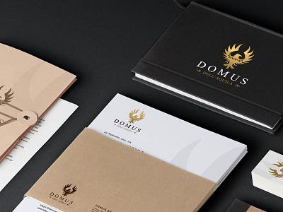 Domus dell'Aquila  logo logo design website branding eagle gold web design stationary