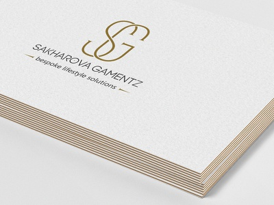 SG | Sakharova Gamentz brand id lettering logo icon sg monogram logo design branding business card