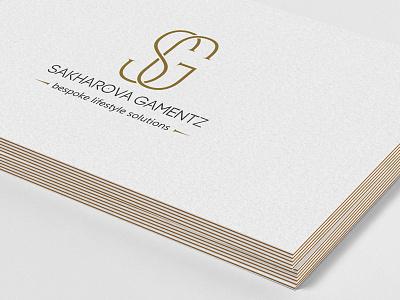 SG   Sakharova Gamentz brand id lettering logo icon sg monogram logo design branding business card