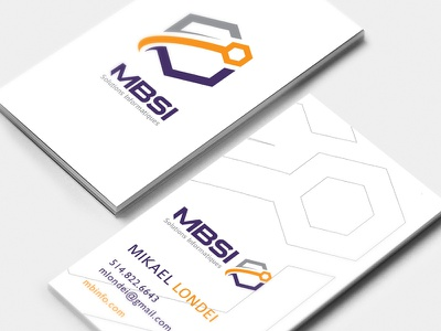 MBSI id business card logo design icon branding logo
