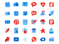 Hand-drawn swiss icons