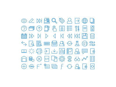Accounting icon set - 32 px