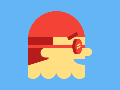 Swimmer tshirt illustration water simple freelance flat graphic swimming illustration icon tshirt swimmer