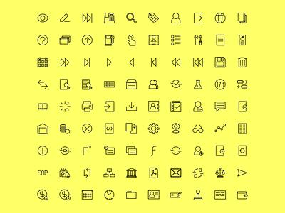Accounting icons - set of 90 illustration google minimalist 16px 32px set flat graphic icon accounting