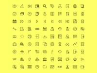 Accounting icons - set of 90