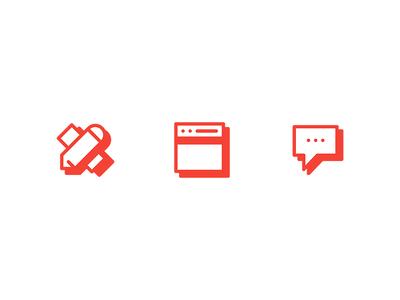 Webpage icons simple set icon basel switzerland freelance design graphic page web icons