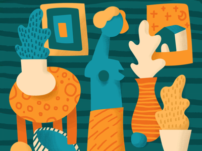 Study google illustration texture pattern paper design study collage