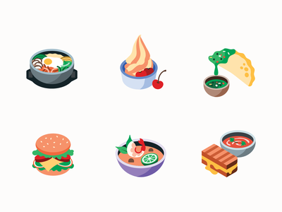 Cuisine illustration deliveryapp product uberdesign breakfast hotdot shop japanese food chinese food boba tea 3d ubereats food delivery isometric art alcohol curry pie seafood smoothy burger sushi