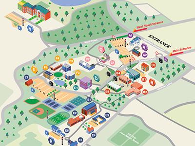 Lander University Campus Map.Nyit Campus Map By Sylvia Boomer Yang Dribbble Dribbble