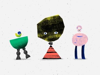 Hi! drawing 2d stone illustration design fun texture geometric character