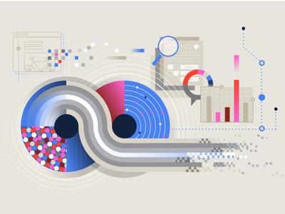 Data visuals digital graphs pixels geometric vector adobe infographics infographic graphics illustration data