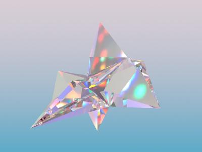 Abstract reflection gradient abstract art 3d glass texture c4d cinema4d
