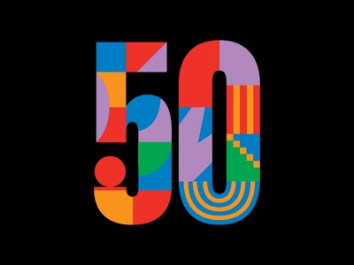 Bloomberg 50 bloomberg abstract geometric graphic number editorial illustration