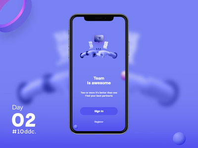 Day 02 UI Challenge card dayli challenge uidesign 3d welcome shot welcome screen welcome design app mobile ux ui challenge 10ddc