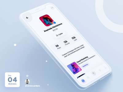 Day 04 UI Challenge trends stats challenging victorcardero card 10ddc trend trending shot profile page profile design app mobile ux ui challenge graphic