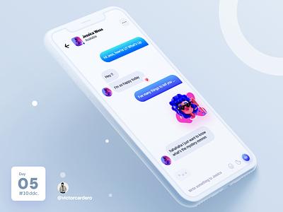 Day 05 UI Challenge popular design ui  ux ui design uidesign uxdesign trending chatting chat app chat app mobile ux ui victorcardero challenge 10ddc